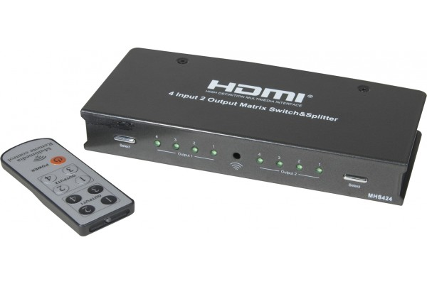 M051132- SWITCH 4X2 HDMI 1,4 + TOSLINK