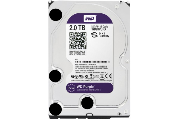 M091066                  -DD 3.5'' SATA III WESTERN DIGITAL Purple - 2To
