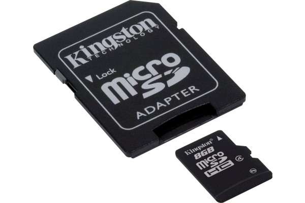 M168176                  -KINGSTON Carte MicroSDHC Classe 4 - 8Go