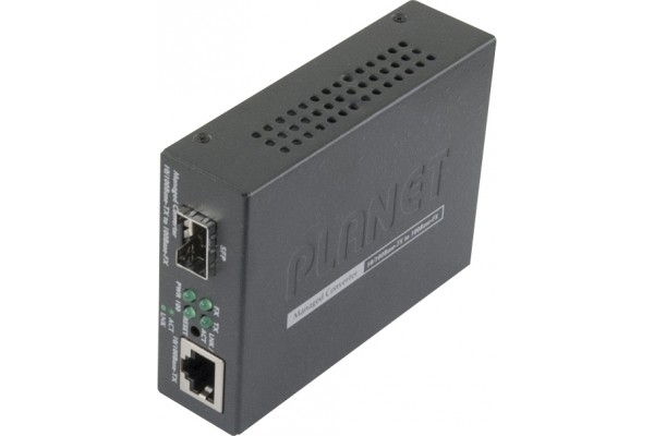 M410905-PLANET FT-905A CONVERT.MANAGEABLE RJ45 10/100 VERS FIBRE SFP