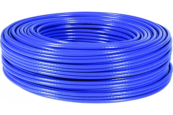 M811268-CABLE F/UTP CAT6 MULTIBRIN Bleu 100M
