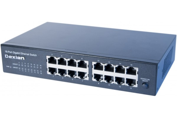 "M891016                  -DEXLAN SWITCH 16 PORTS GIGABIT RACKABLE 10"" ET 19"""