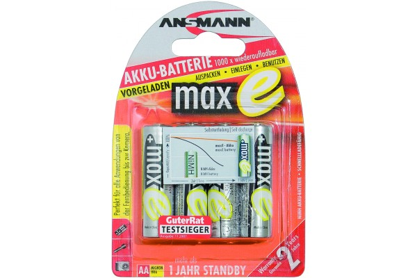 M958695                  -ANSMANN Batteries 5035052 HR6 / AA blister de 4
